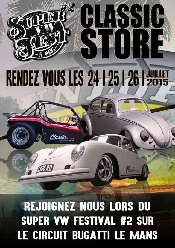 Classic Store partenaire du VW Festival 2015 sur le circuit du Mans